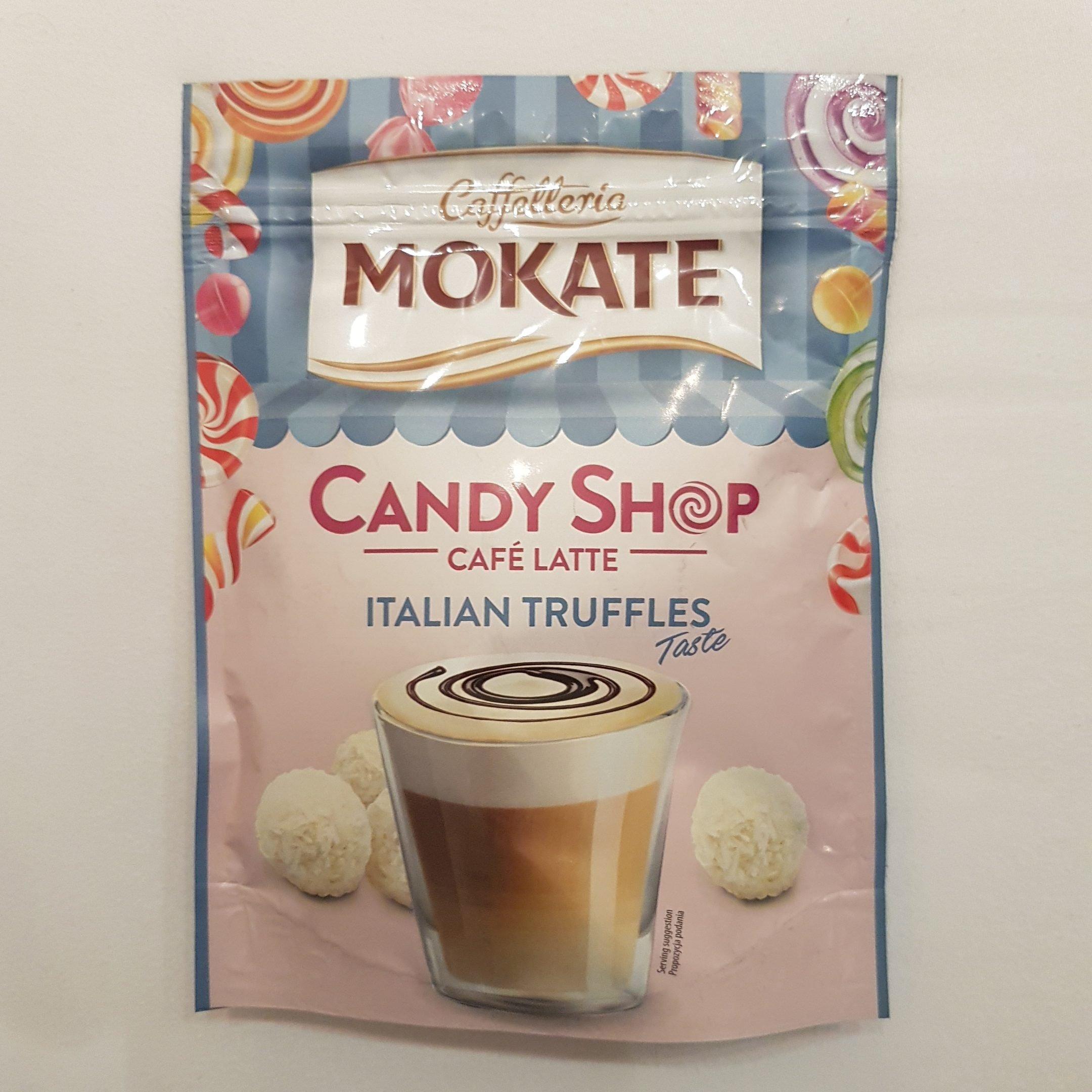 Caffetteria Mokate - Candy Shop Café Latte Italian Truffles Taste - itstartswithacoffee.com #latte #candyshop #caffetteria #mokate