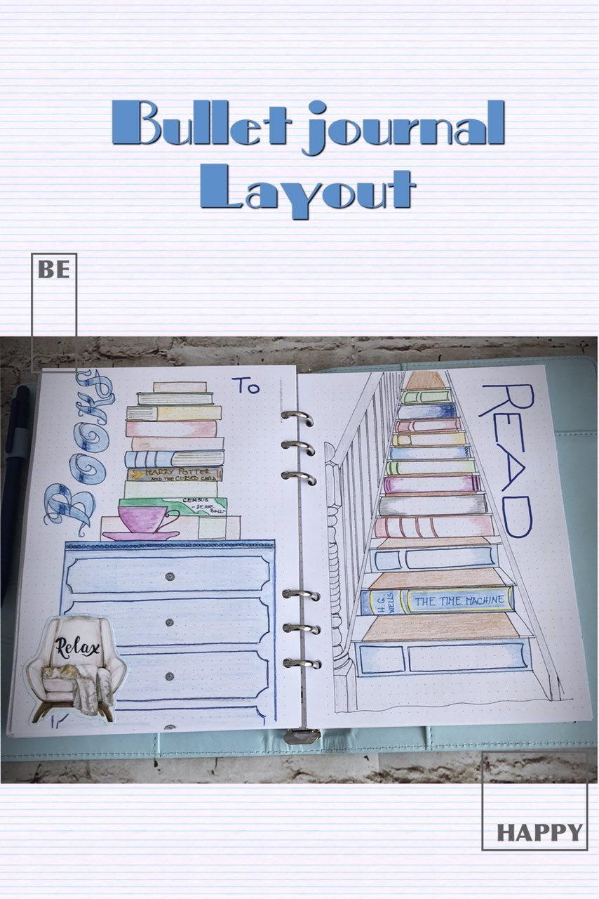 Bullet journal layout - books to read