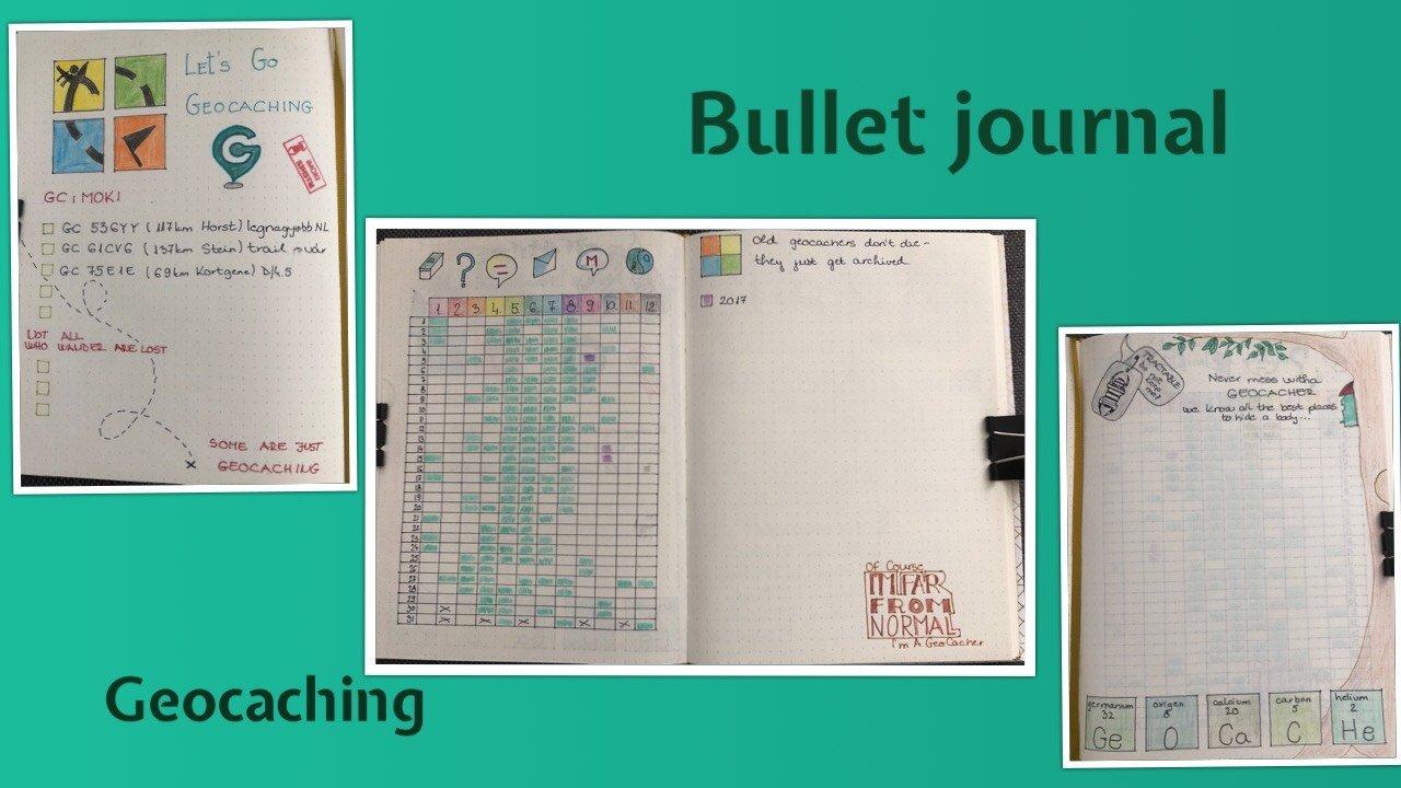 Bullet journal - geocaching - itstartswithacoffee.com