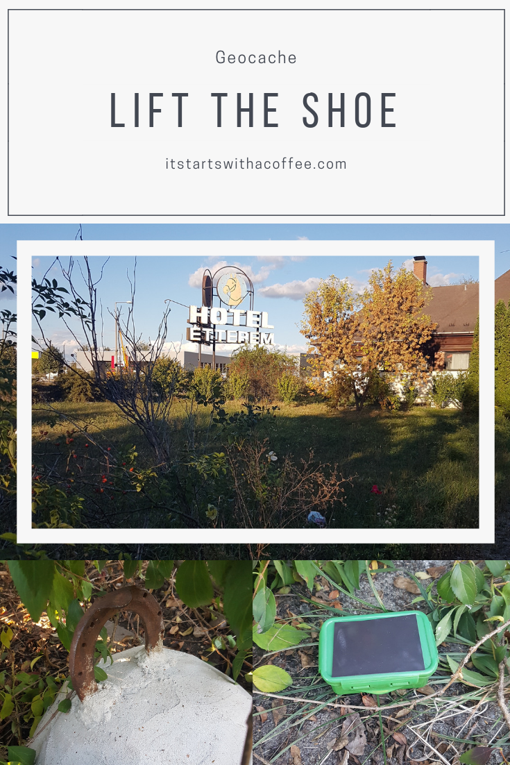 Geocache: Lift the shoe - itstartswithacoffee.com #geocaching #geocache #horseshoe #geocachingHungary
