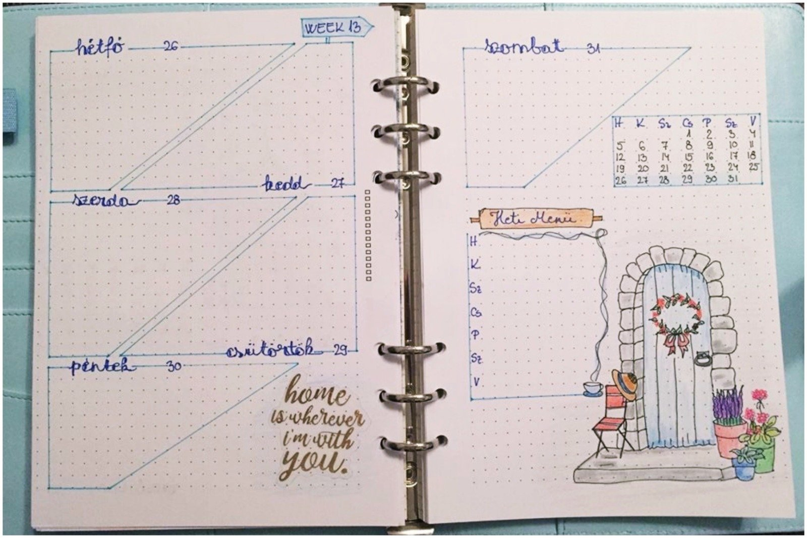 Bullet journal weekly planner - week 13 - itstartswithacoffee.com #march #coverpage #bulletjournal #bujo #weekly #weeklyplanner #bulletjournaling #bujojunkies #bujolove #showmeyourplanner #bujoinspire #bulletjournallove #bulletjournalcommunity #planning #planneraddict #bulletjournaljunkies #planwithme #itstartswithacoffee.com