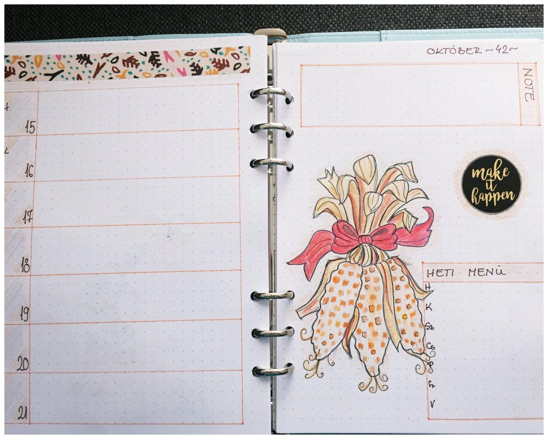 Bullet journal weekly planner October - itstartswithacoffee.com #bulletjournal #bulletjournaling #weeklyplanner #planner #October #bujo