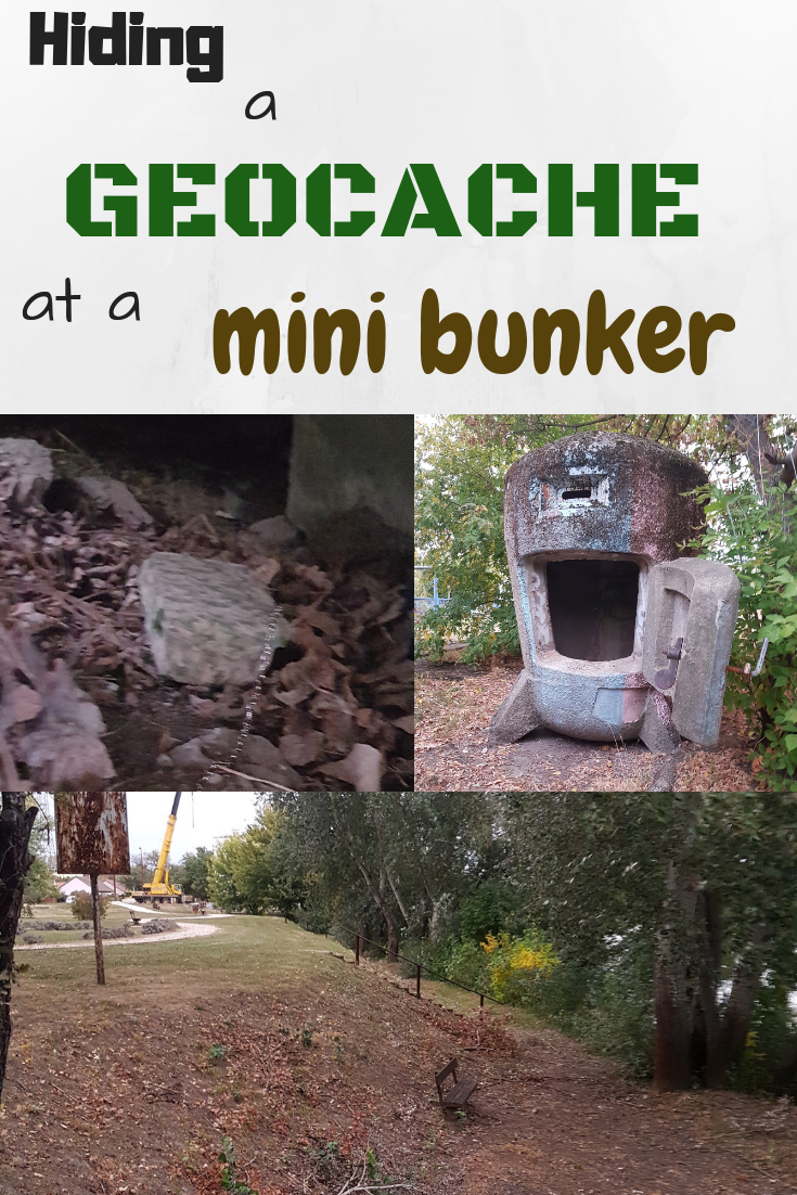 Hiding a geocache at a mini bunker - itstartswithacoffee.com #geocache #geocachingHungary #geocaching #camouflaged #bunker #myhides