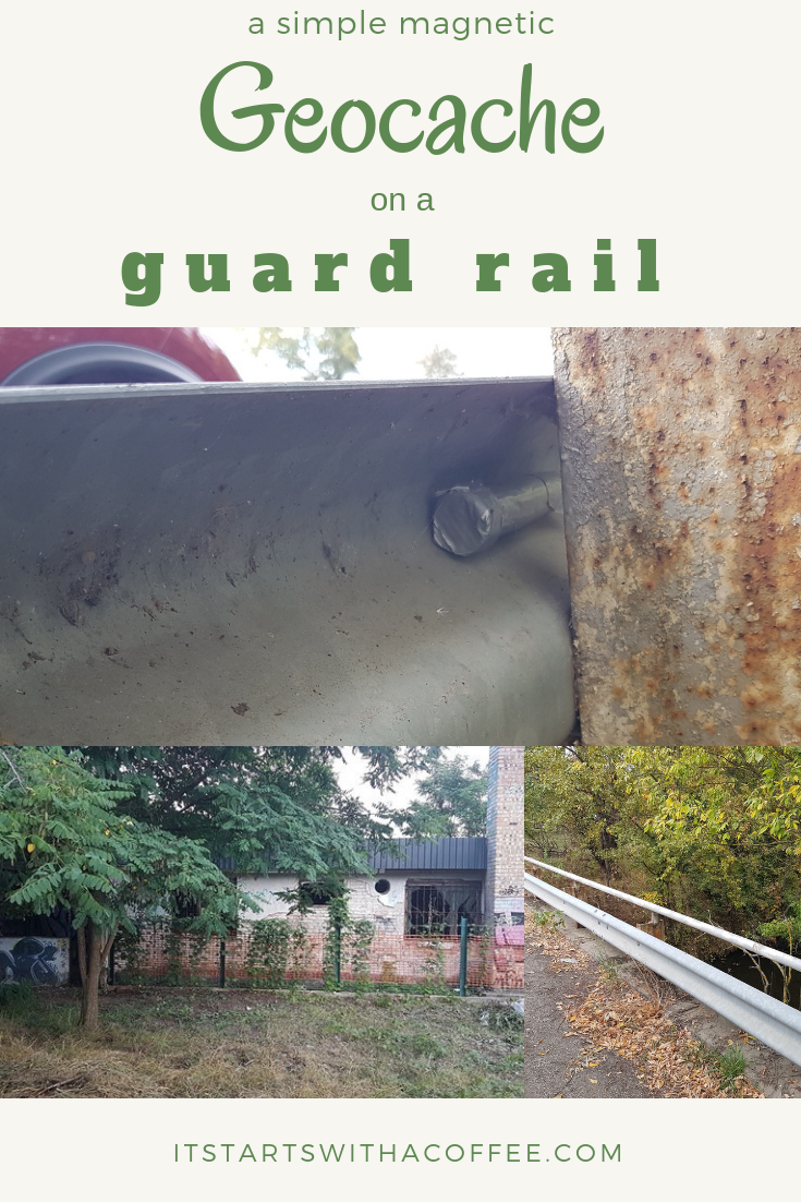 Petling on the guard rail - itstartswithacoffee.com #geocache #geocaching #geocachingHungary #geocachinghide #ihideit #petling
