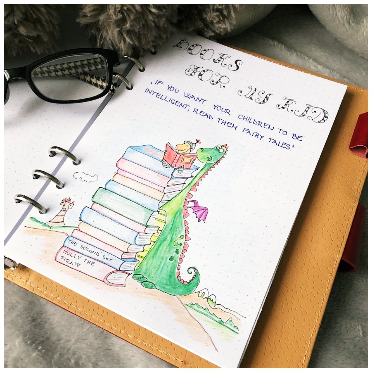 Bullet journal - Books to read for the kids - itstartswithacoffee.com #bulletjournal #booktoread #itstartswithacoffee.com