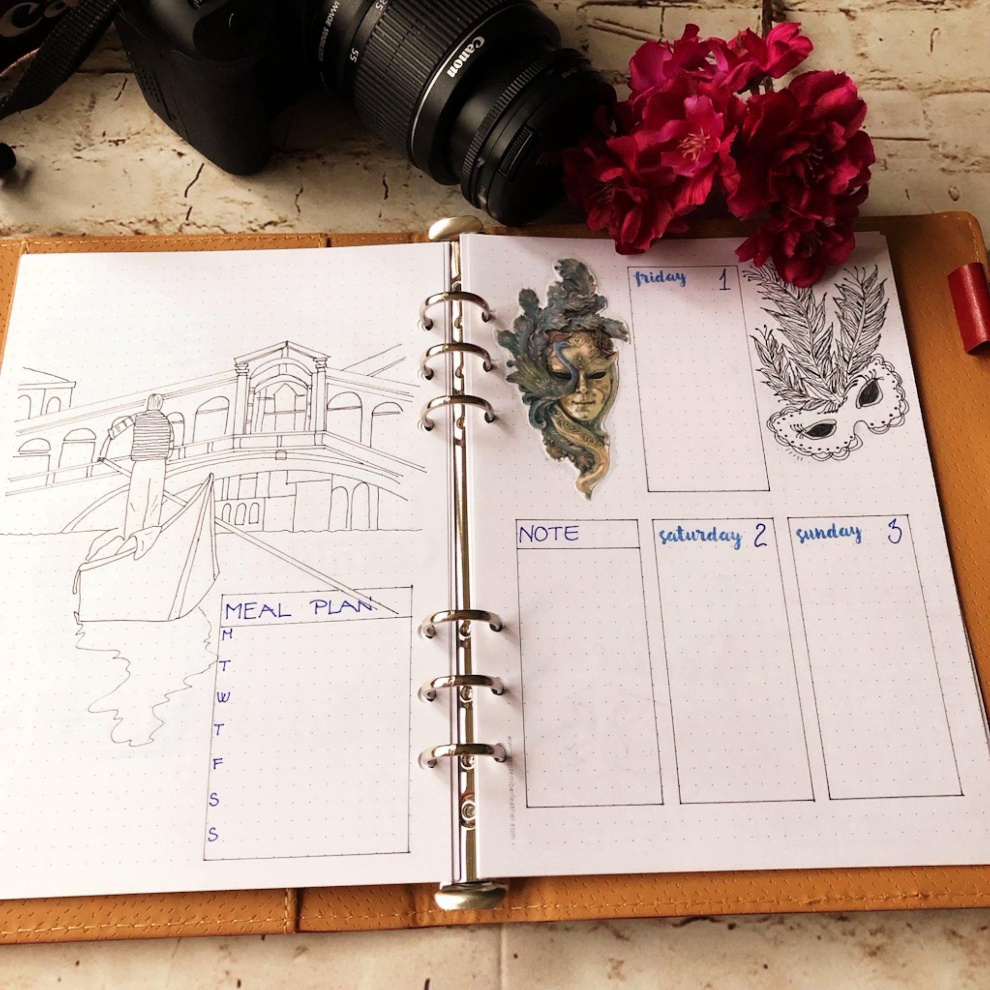 Creative journaling weekly planner - week 5 - itstartswithacoffee.com #creativejournaling #bulletjournaling #planner #weeklyplanner #weekly #February #2019 #week5