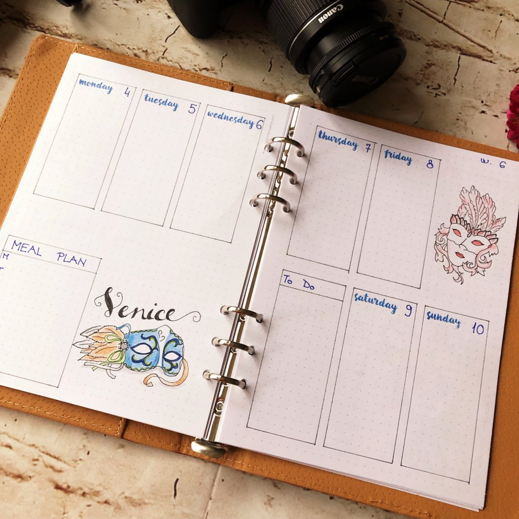Creative journaling weekly planner - week 6 - itstartswithacoffee.com #creativejournaling #bulletjournaling #planner #weeklyplanner #weekly #February #2019 #week6