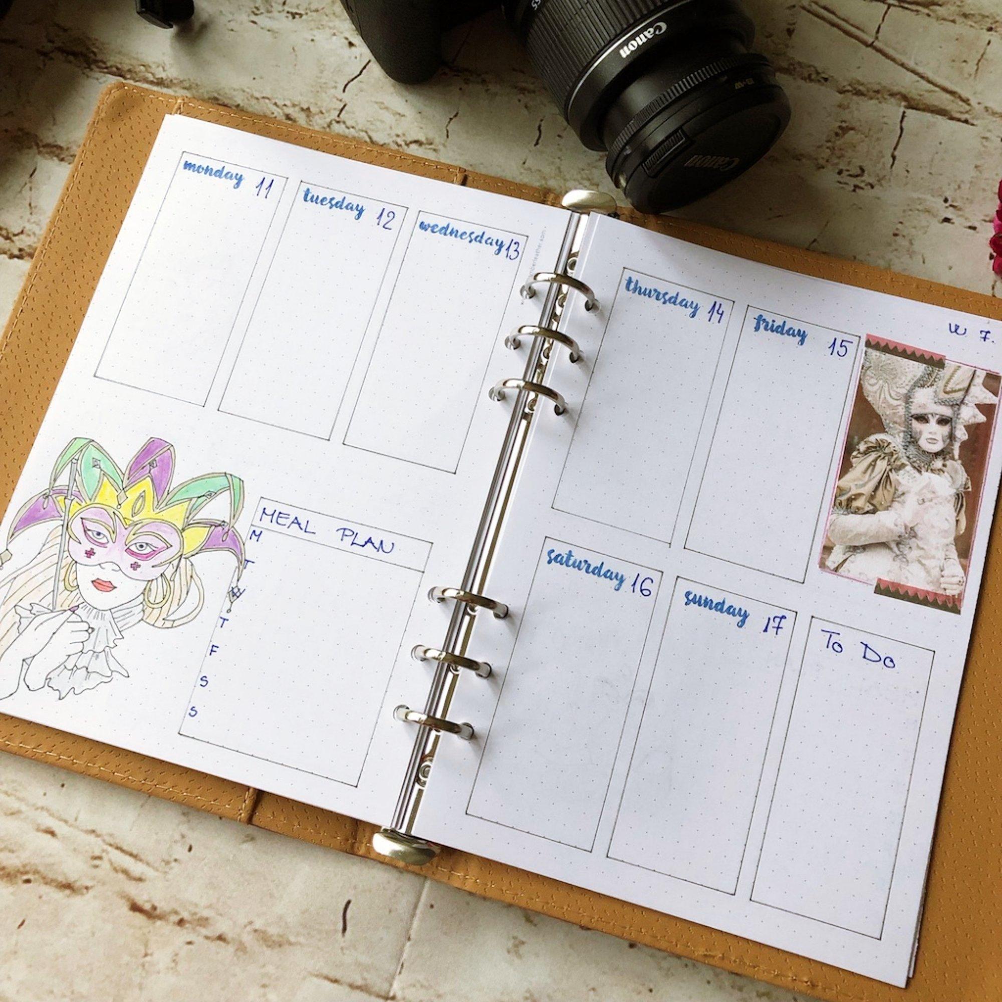 Creative journaling weekly planner - week 7 - itstartswithacoffee.com #creativejournaling #bulletjournaling #planner #weeklyplanner #weekly #February #2019 #week7