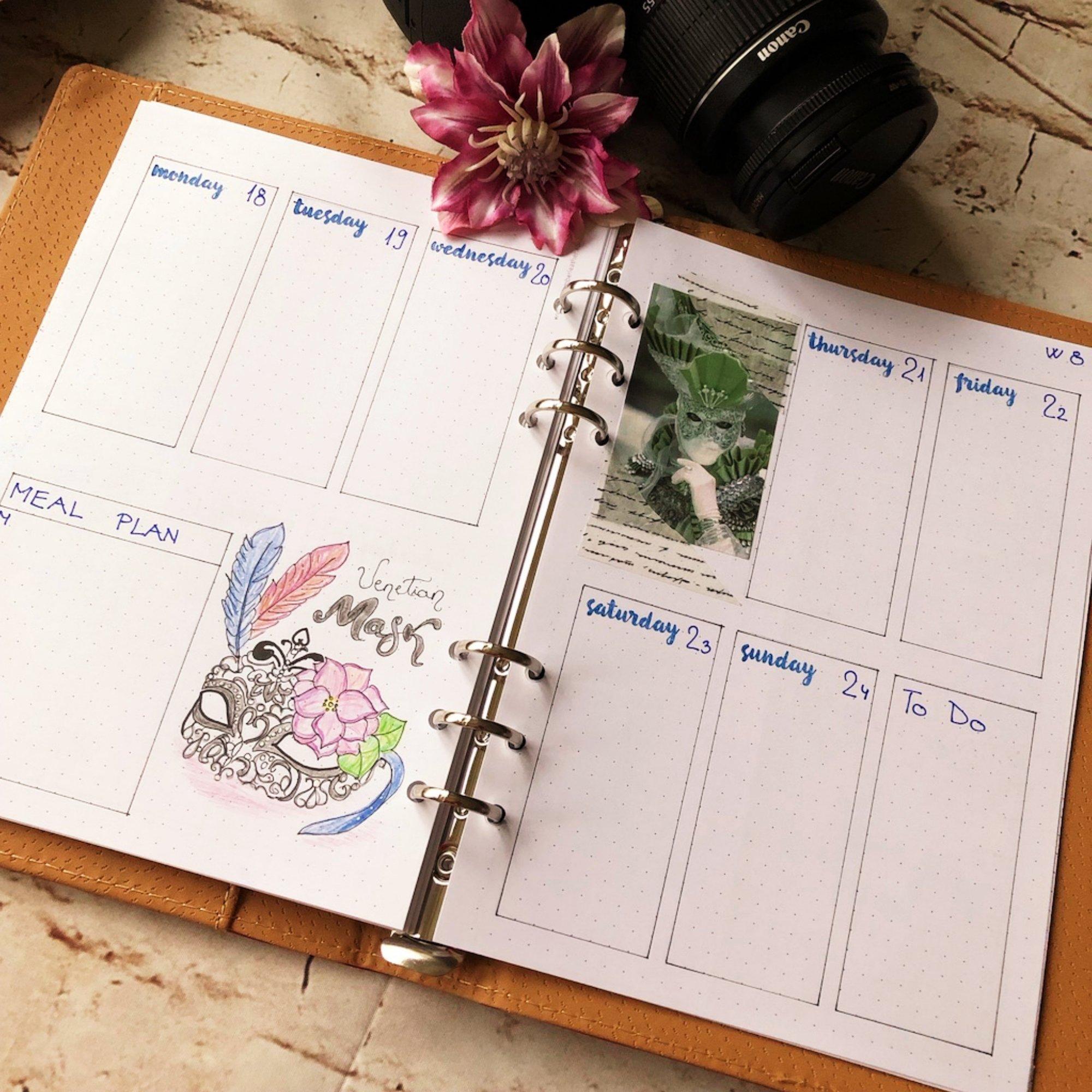 Creative journaling weekly planner - week 8 - itstartswithacoffee.com #creativejournaling #bulletjournaling #planner #weeklyplanner #weekly #February #2019 #week8