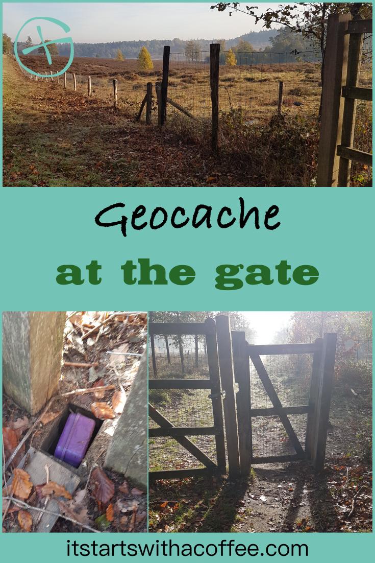 The geocache at the gate - itstartswithacoffee.com #geocache #geocaching #geocachingNL #geocachingNetherlands #geocachingfun