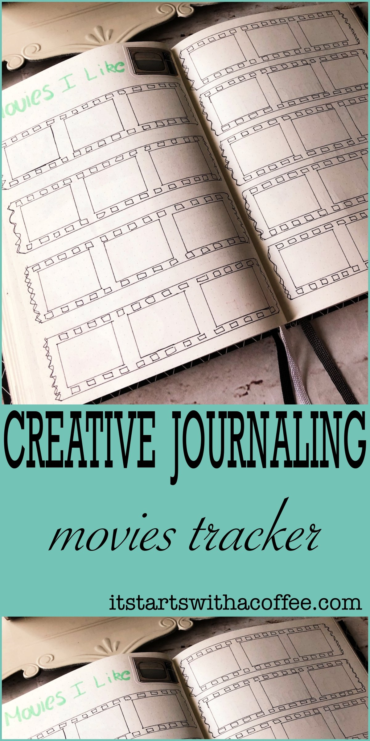 Creative Journaling - Movies I Like - itstartswithacoffee.com #creativejournaling #journaling #tracker #moviestracker