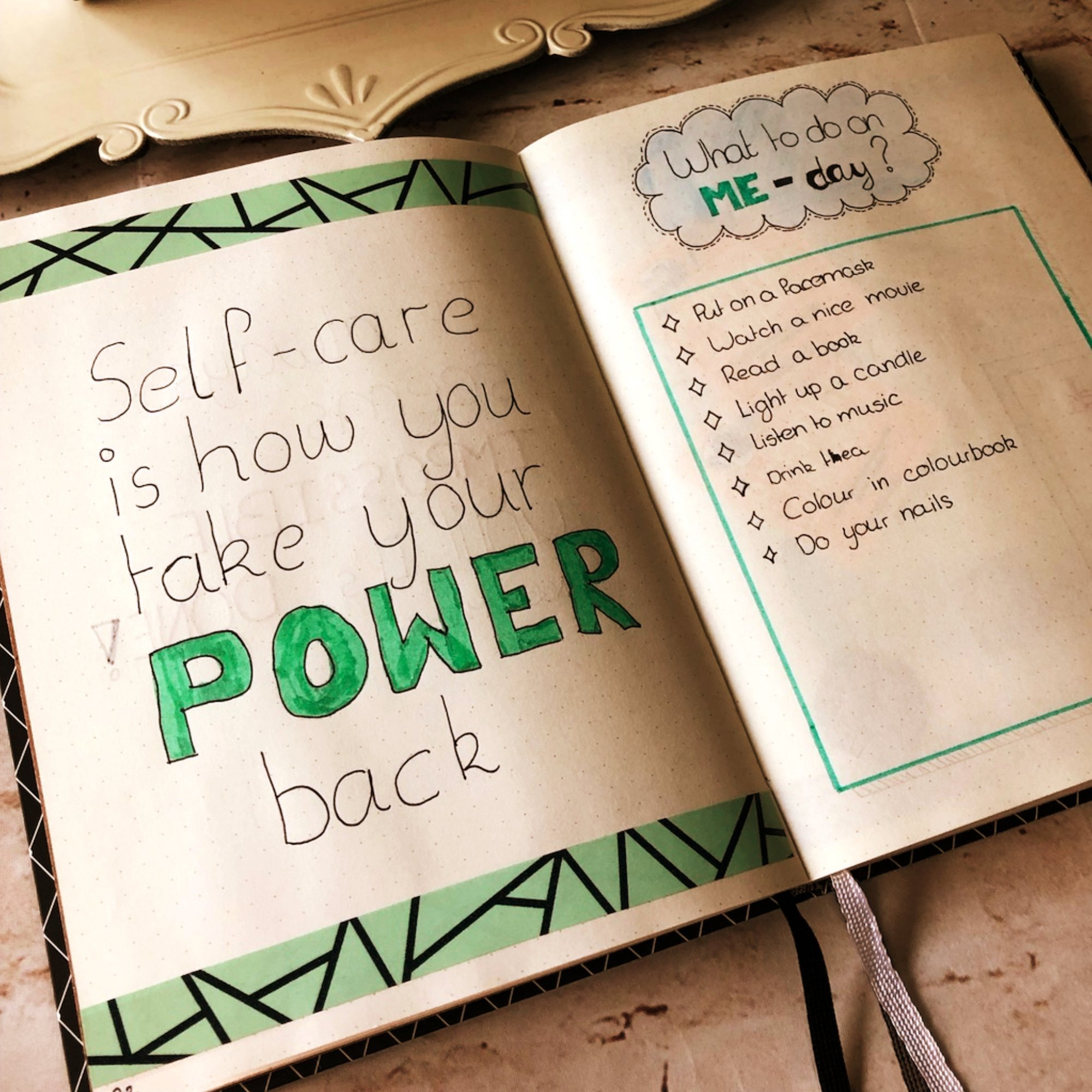 Creative journaling Quotes #2 - Self-care is how you take your power back - itstartswithacoffee.com #journaling #creativejournaling #quotes