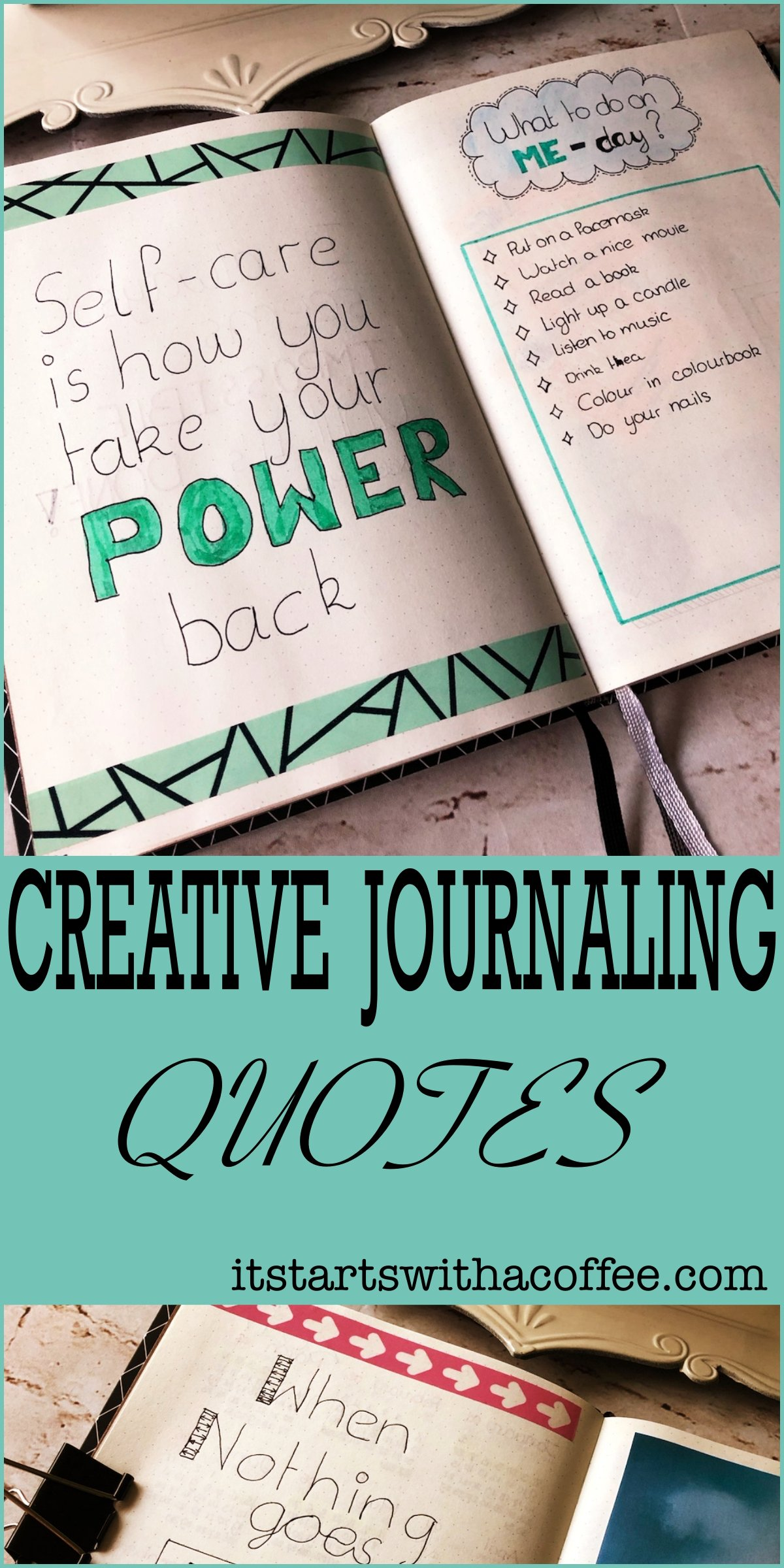 Creative journaling Quotes #2 - itstartswithacoffee.com #journaling #creativejournaling #quotes