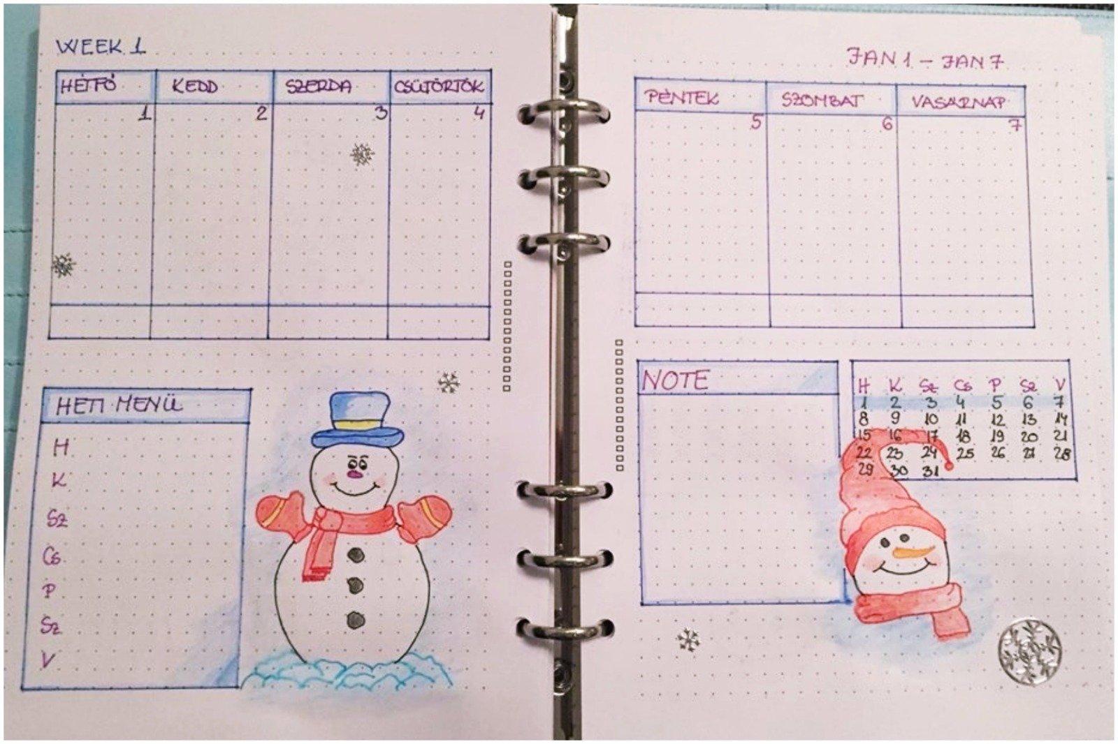 Creative journal weekly planner - week 1 - itstartswithacoffee.com #creativejournaling #weekly #weeklyplanner #2018 #january #2018January #planner