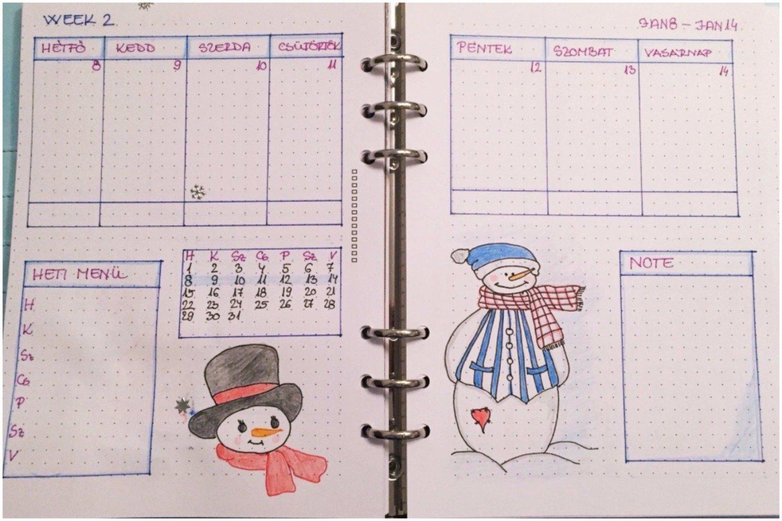 Creative journal weekly planner - week 2 - itstartswithacoffee.com #creativejournaling #weekly #weeklyplanner #2018 #january #2018January #planner
