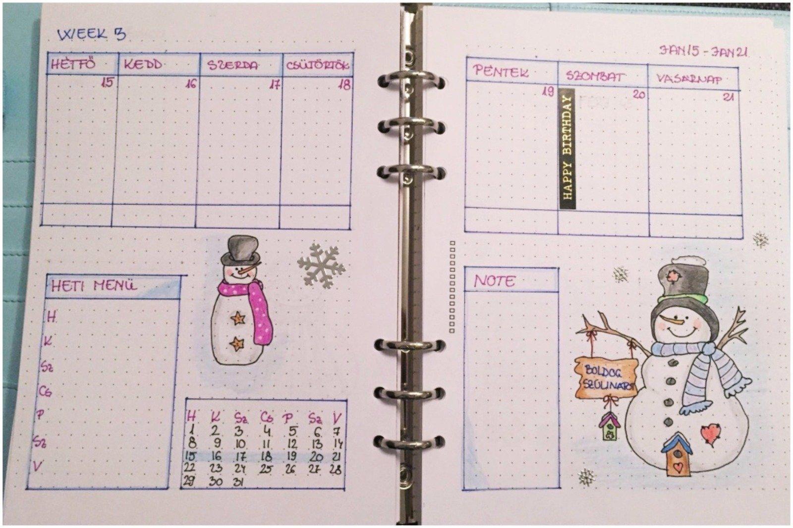 Creative journal weekly planner - week 3 - itstartswithacoffee.com #creativejournaling #weekly #weeklyplanner #2018 #january #2018January #planner