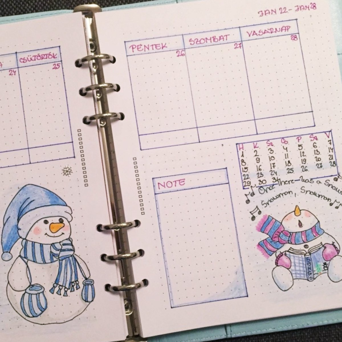 Creative journal weekly planner - week 4 - itstartswithacoffee.com #creativejournaling #weekly #weeklyplanner #2018 #january #2018January #planner