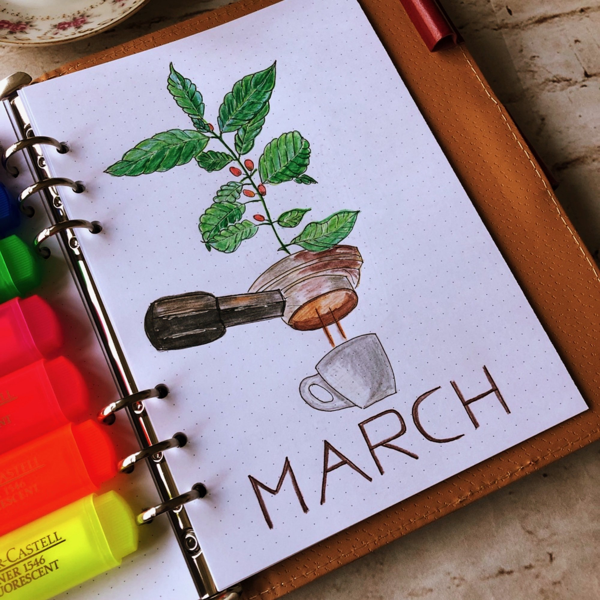 Creative journaling March 2019 - cover page - itstartswithacoffee.com #creativejournaling #monthly #monthlycover #March #coverpage