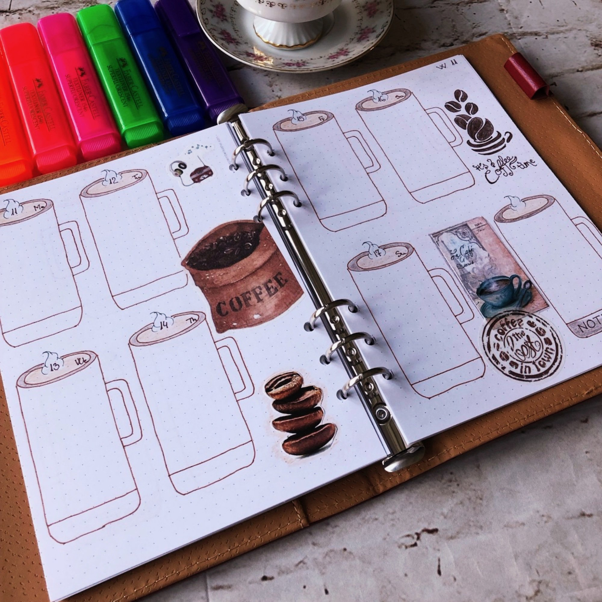 Creative journaling weekly planner – week 11 (March) - itstartswithacoffee.com #creativejournaling #weekly #weeklyplanner #March #planner #planning