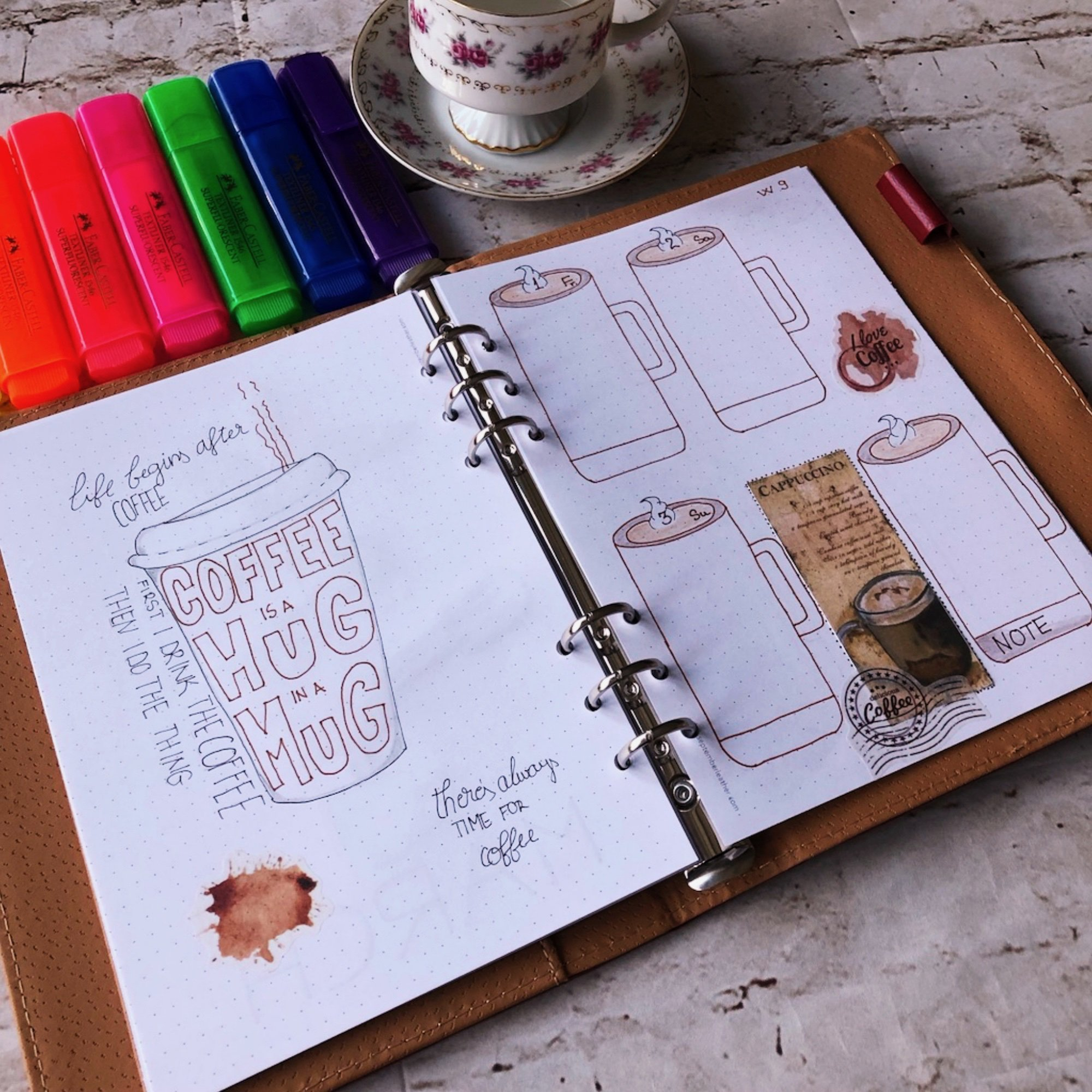 Creative journaling weekly planner – week 9 (March) - itstartswithacoffee.com #creativejournaling #weekly #weeklyplanner #March #planner #planning