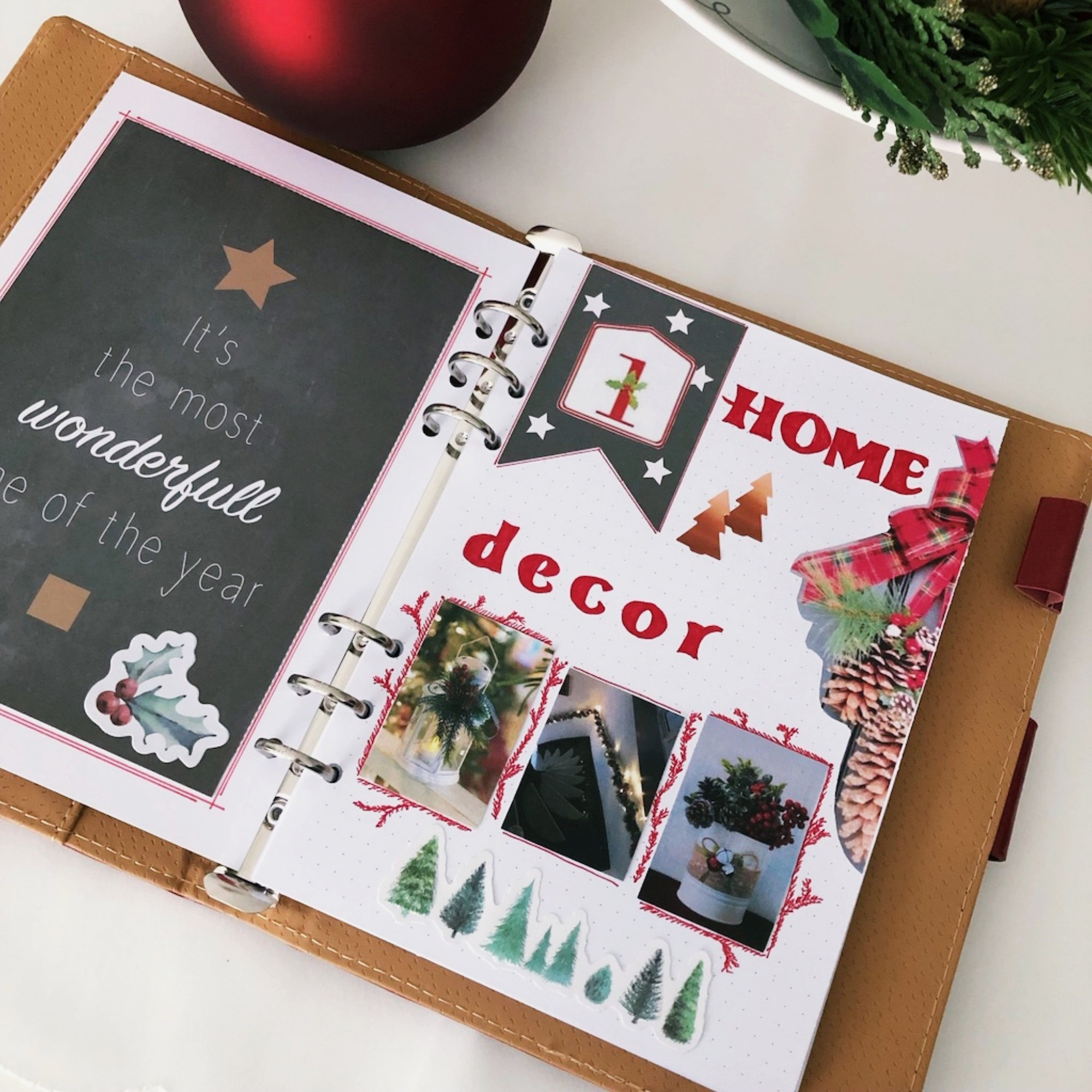 Creative journaling - December daily memories Day 1 - itstartswithacoffee.com #creativejournaling #journaling #daily