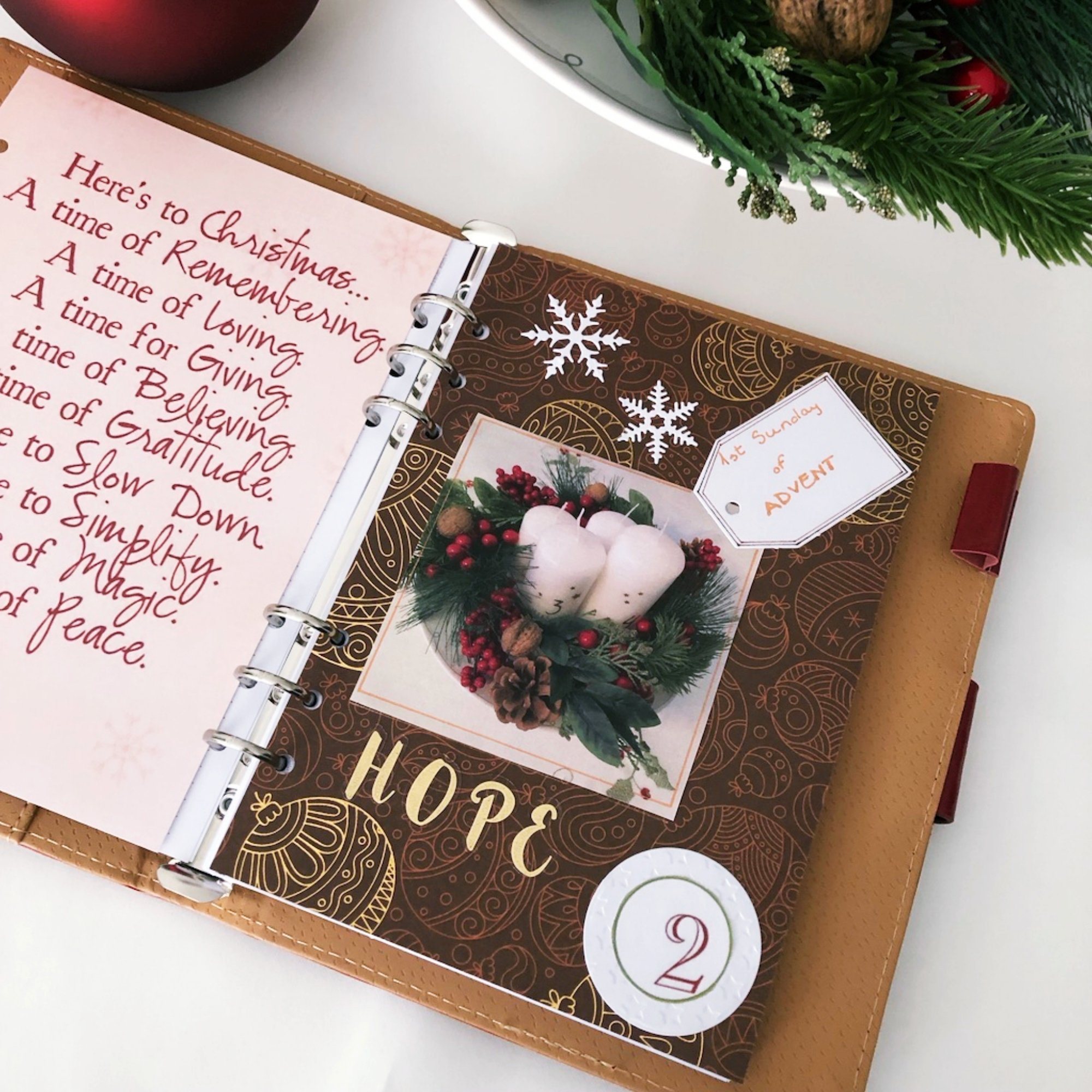 Creative journaling - December daily memories Day 2 - itstartswithacoffee.com #creativejournaling #journaling #daily
