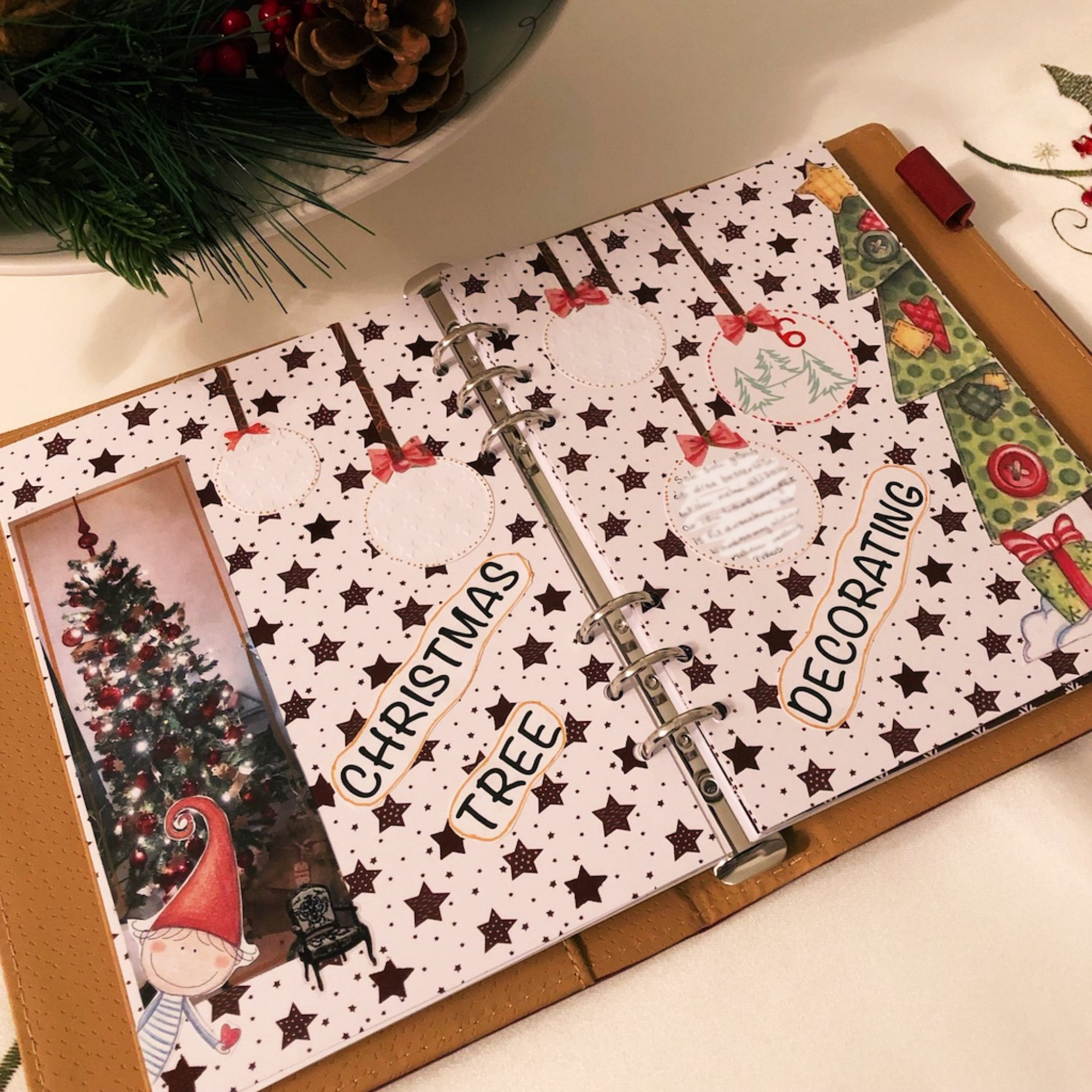 Creative journaling - December daily memories Day 6 - itstartswithacoffee.com #creativejournaling #journaling #daily