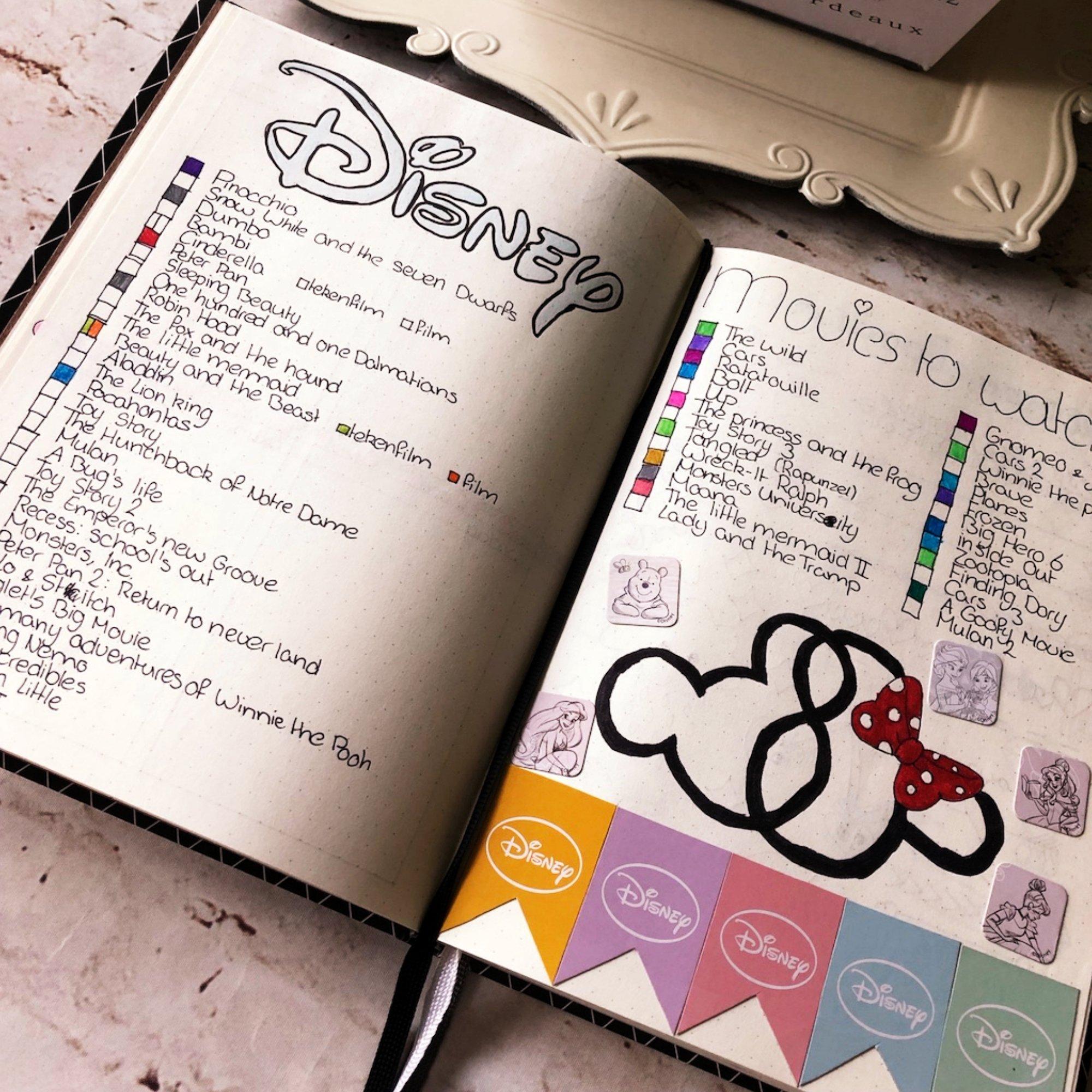 Creative journaling - Disney tracker - itstartswithacoffee.com #creativejournaling #journaling #planner #planning #disney #tracker #disneytracker