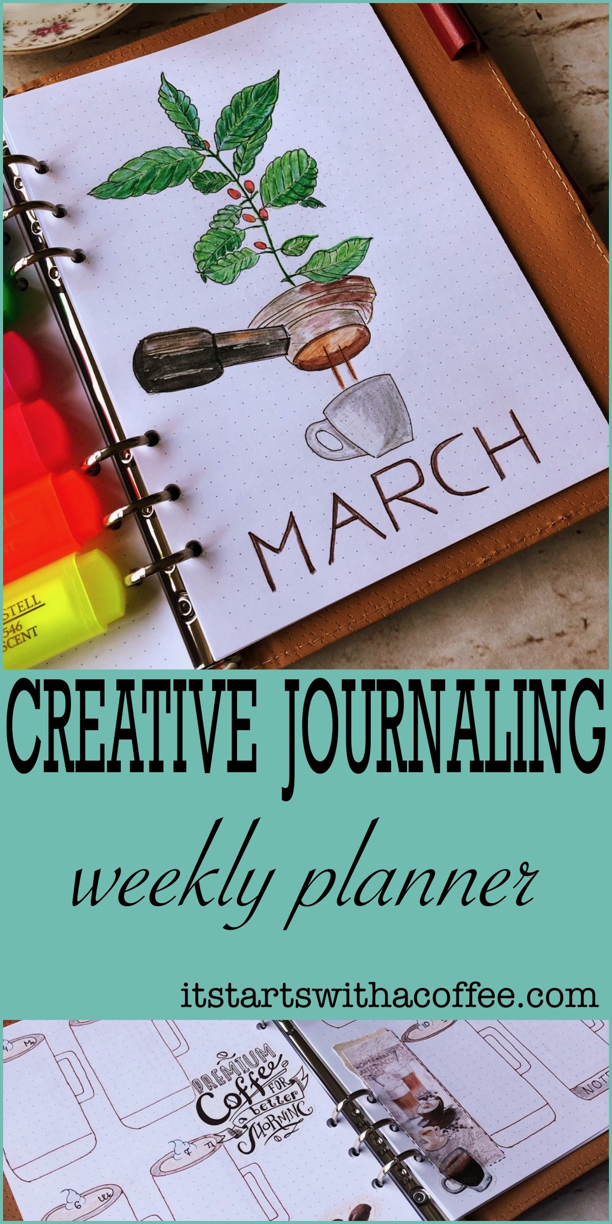 Creative journaling weekly planner – March 2019 – itstartswithacoffee.com #creativejournaling #weekly #weeklyplanner #March #planner #planning