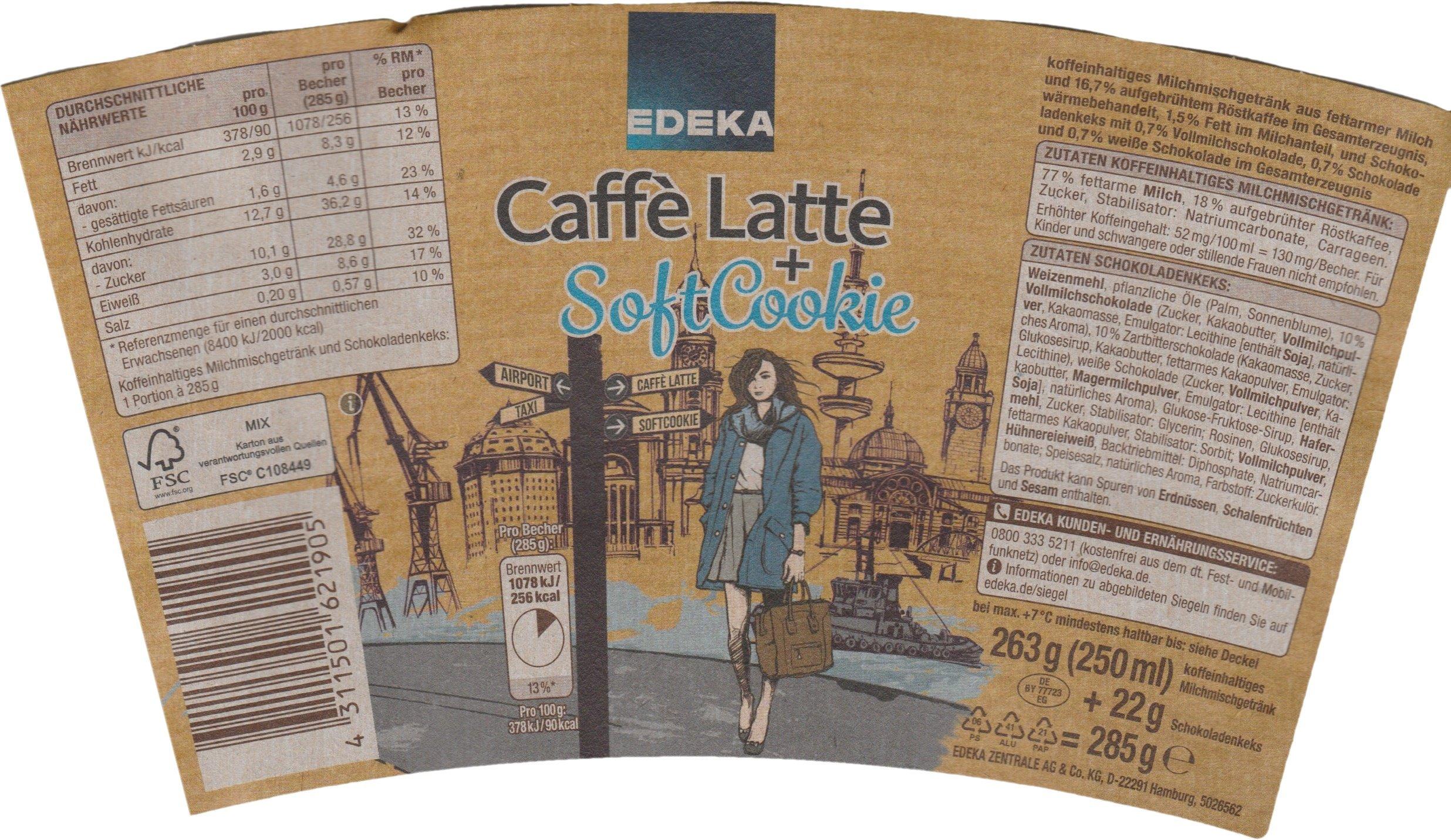 EDEKA — Caffè Latte + Soft Cookie - paper cover
