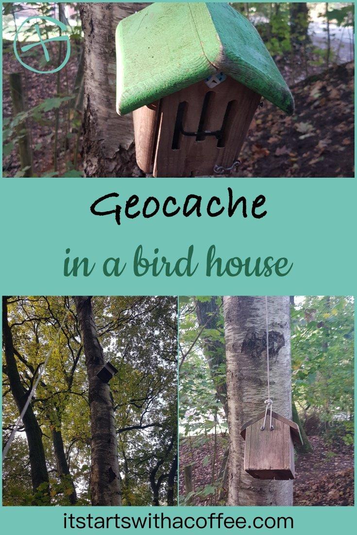 Geocache - bird house - itstartswithacoffee.com #geocache #geocaching #geocachingNL #geocachingNetherlands #geocachingfun #birdhouse