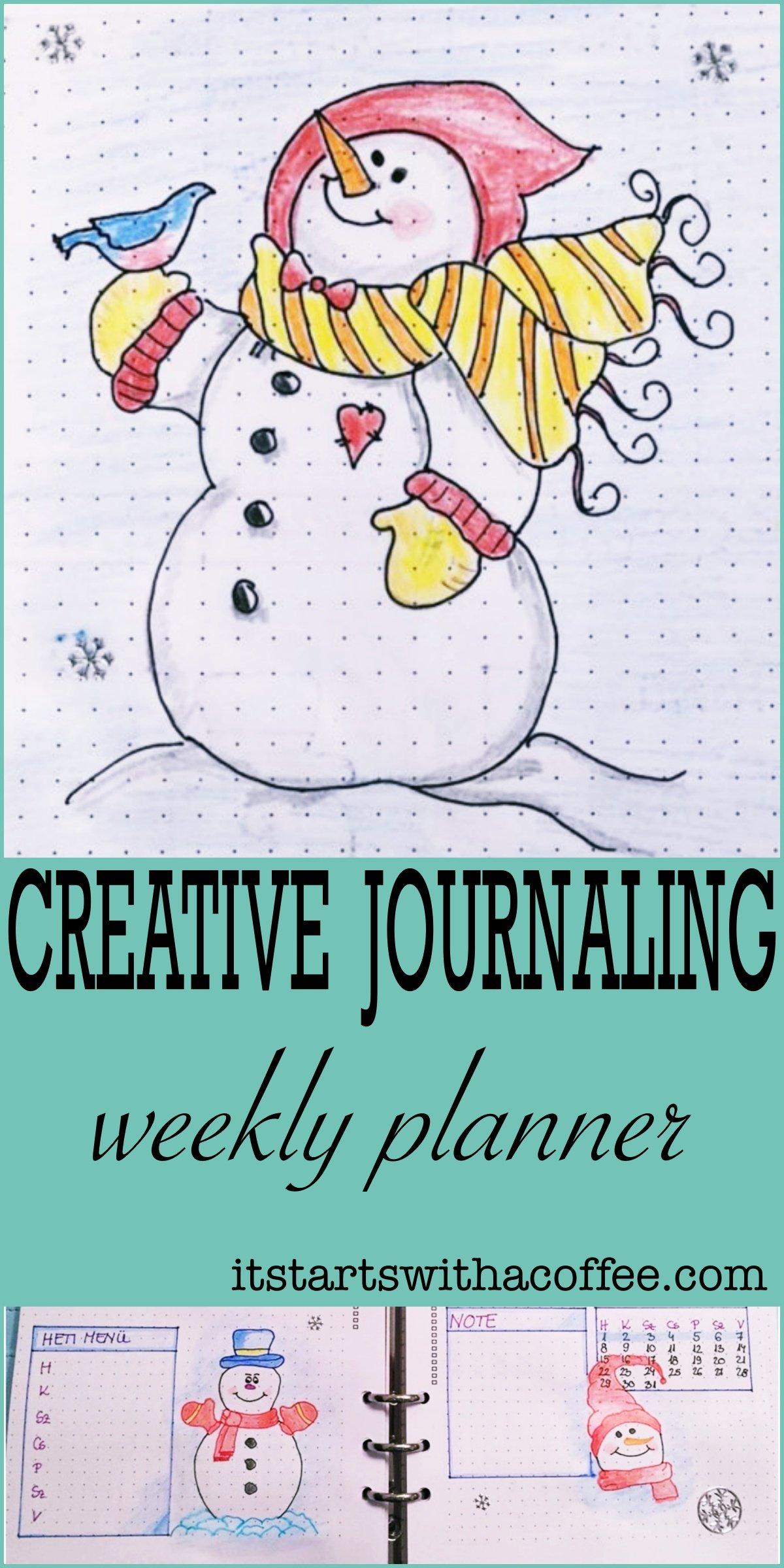 Creative journaling - January 2018 - itstartswithacoffee.com #creativejournaling #journaling #weeklyplanner #weekly #planner #january #2018 #2018January