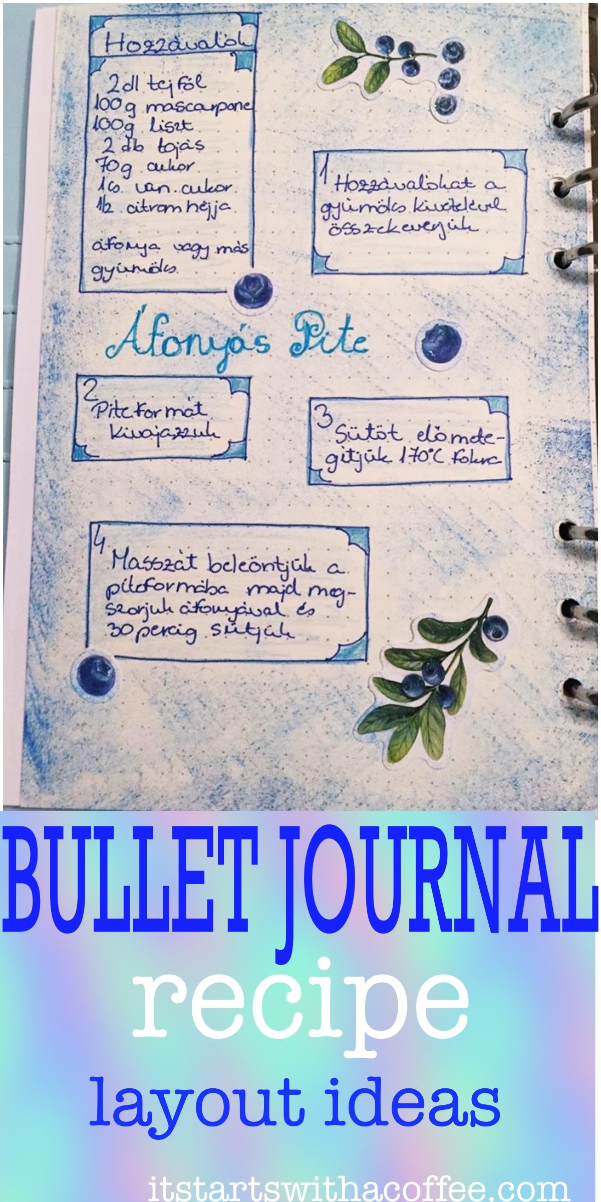 Creative journaling - recipe - itstartswithacoffee.com #recipe