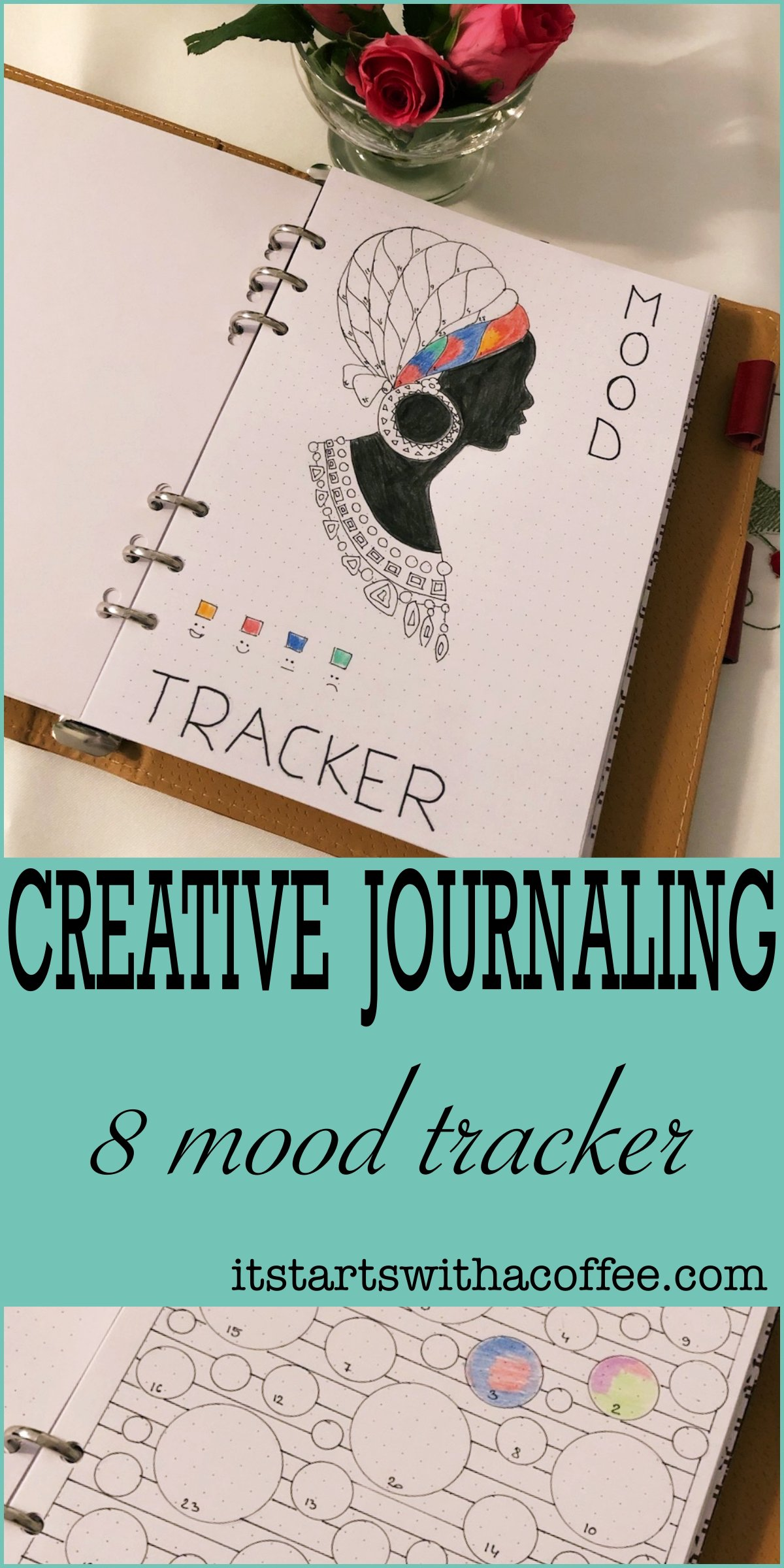 8 Mood trackers - itstartswithacoffee.com #moodtracker #tracker #journaling #planning #creativejournal #creativejournaling
