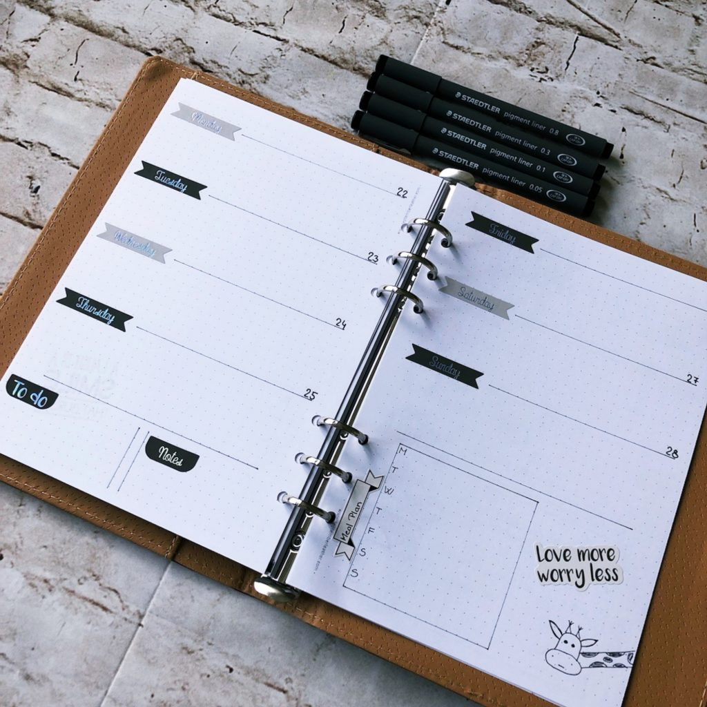 Creative journal April 2019 - week 17 - itstartswithacoffee.com #creativejournaling #planner #weeklyplanner #2019 #2019April #April