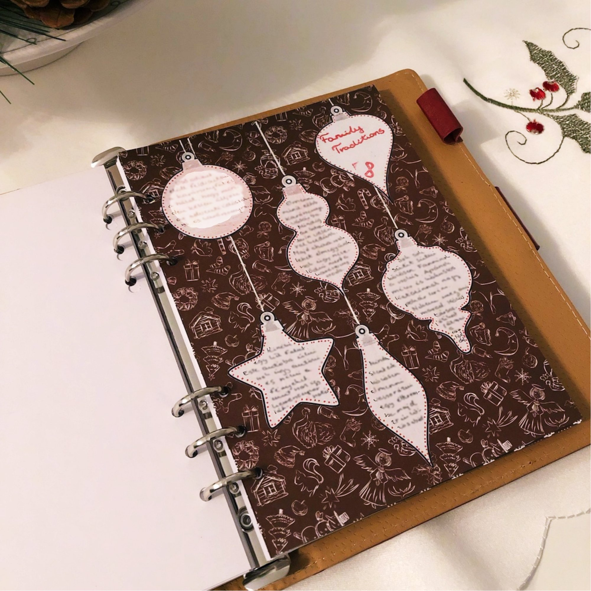 Creative journaling - December daily memories Day 8 - itstartswithacoffee.com #creativejournaling #journaling #daily