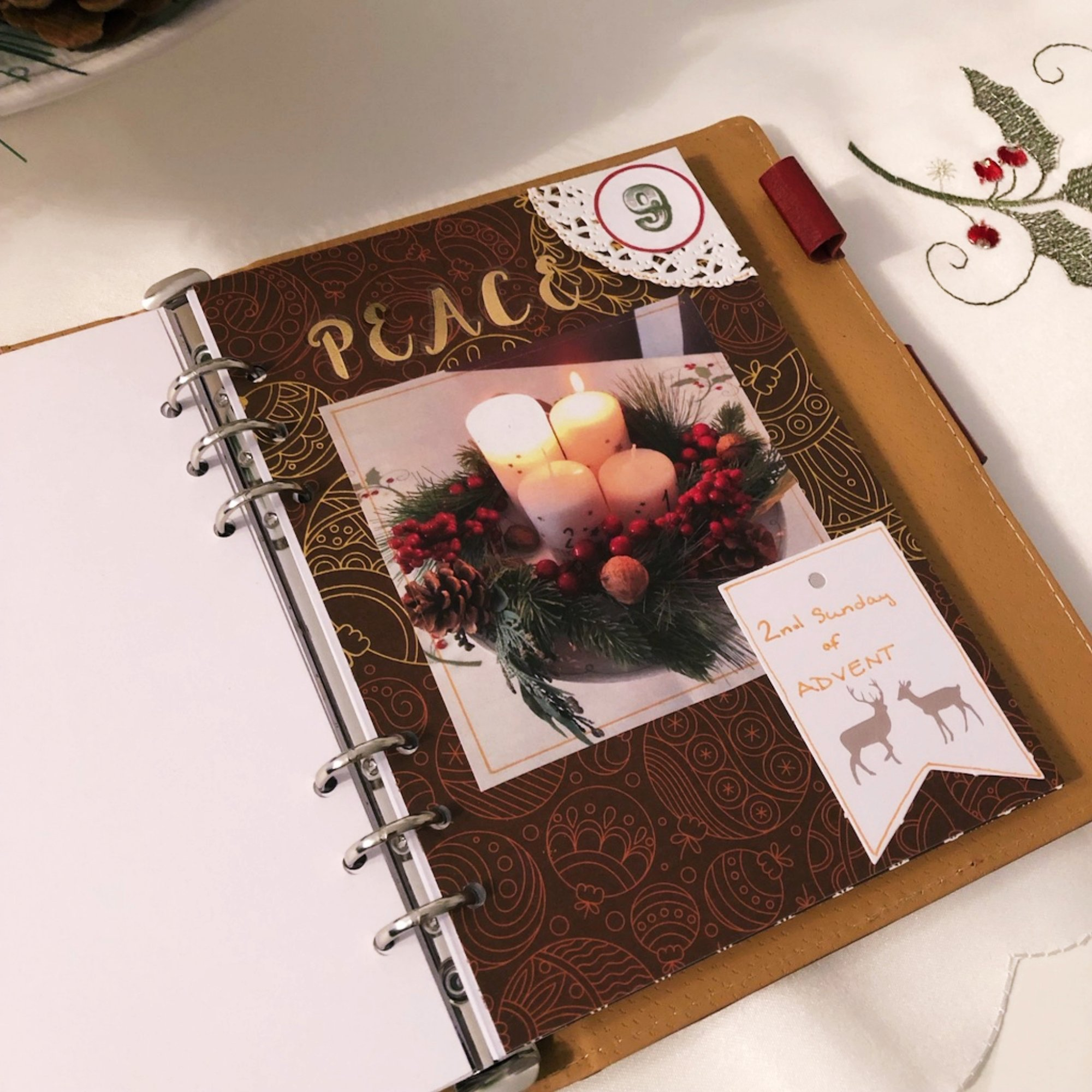Creative journaling - December daily memories Day 9 - itstartswithacoffee.com #creativejournaling #journaling #daily