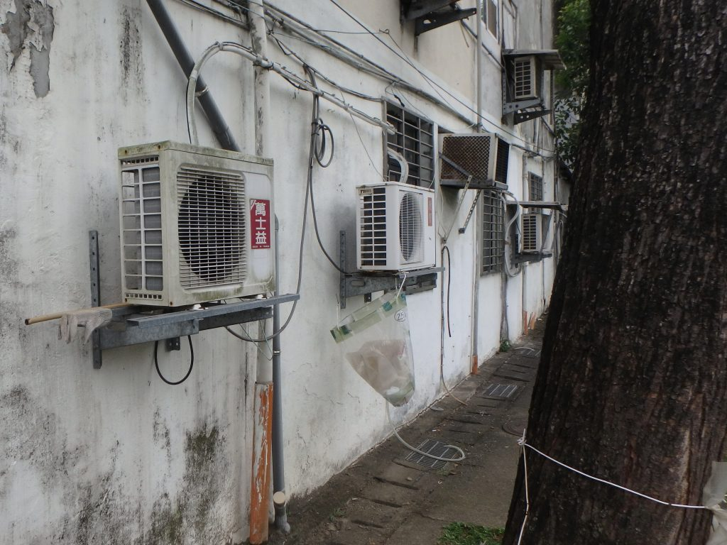 The air conditioners on the wall - itstartswithacoffee.com