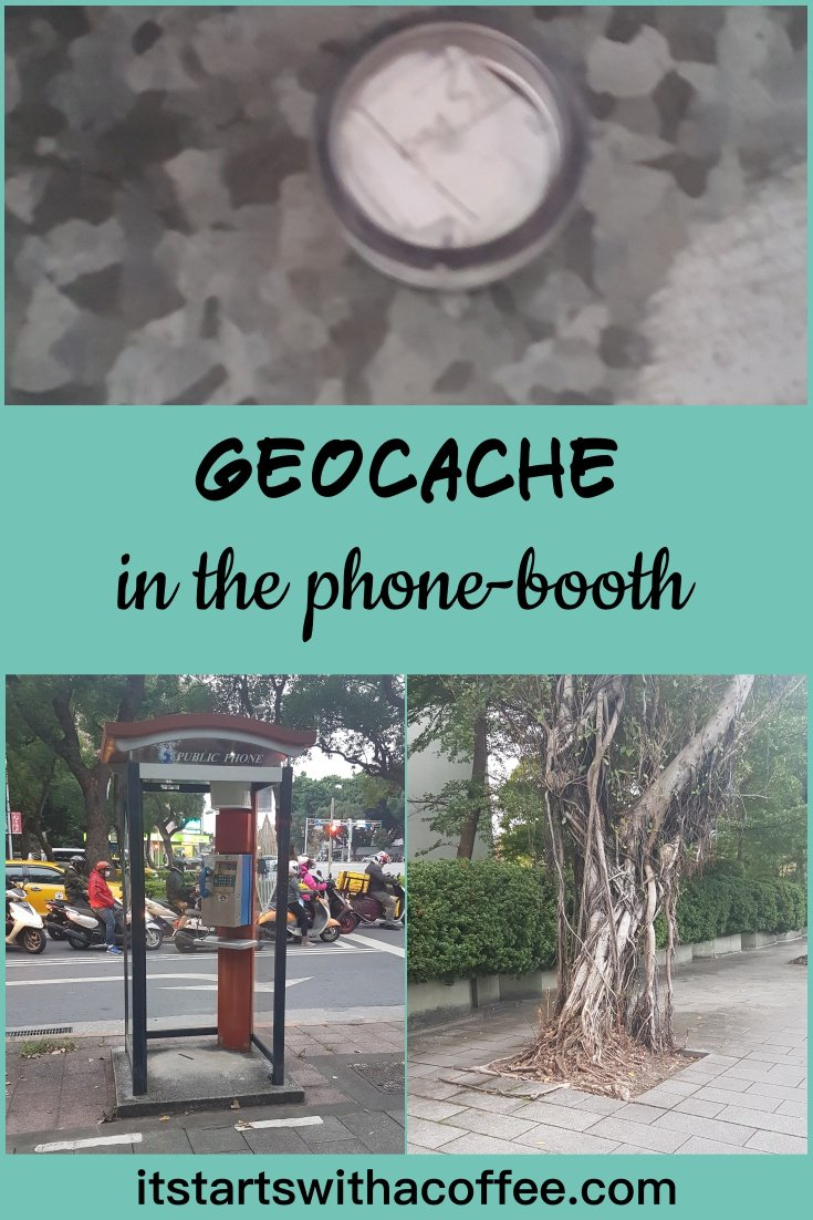 Geocache in the phone-booth - itstartswithacoffee.com #geocaching #geocache #magnetic #geocachingTW #geocachingtaiwan