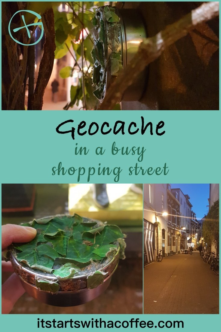Geocache in a busy shopping street - itstartswithacoffee.com #geocaching #geocache #magnetic #geocachingNL #geocachingNetherlands #urbancaching