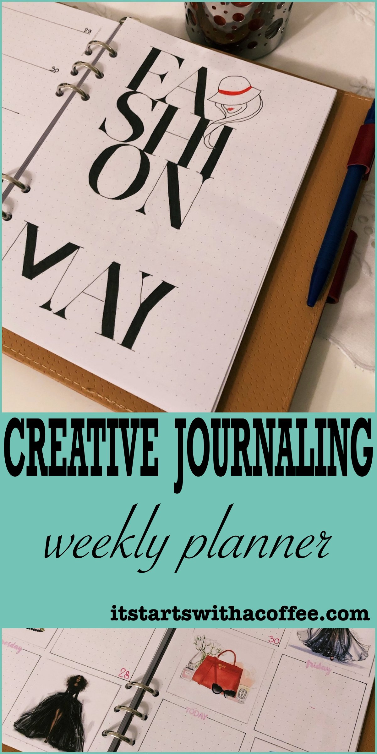 Creative journaling May 2019 - itstartswithacoffee.com #creativejournaling #planner #coverpage #2019 #2019May #May