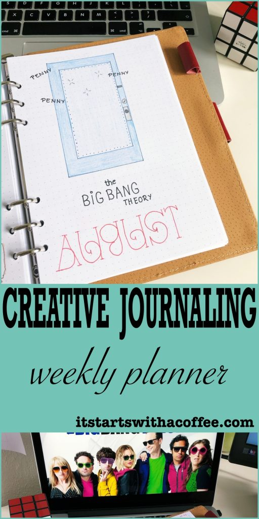Creative journaling - August 2019 - itstartswithacoffee.com #weeklyplanner #creativejournal #creativejournaling #memories #planning #coverpage #monthlycover #bujo #bujoaddict