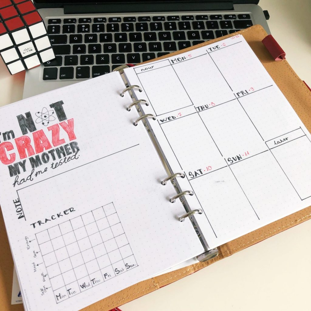 Creative journaling - August 2019 - weekly planner for week 32 - itstartswithacoffee.com #weeklyplanner #creativejournal #creativejournaling #weekly #planning